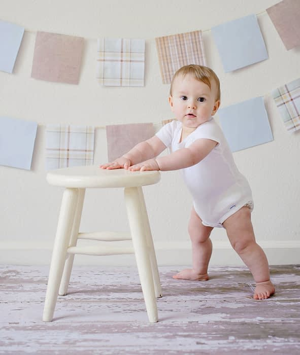 adorable baby trying to stand-amybabyreview