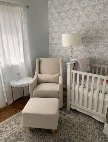 Glider for small nursery